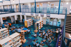 Students learning in library at St Mary Star of the Sea Catholic Primary School Hurstville