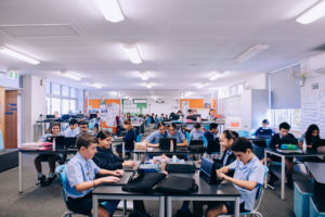 Students working in modern classroom at St Mary Star of the Sea Catholic Primary School Hurstville